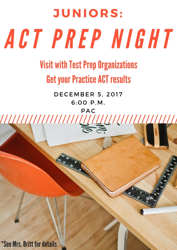 ACT PREP NIGHT Graphic