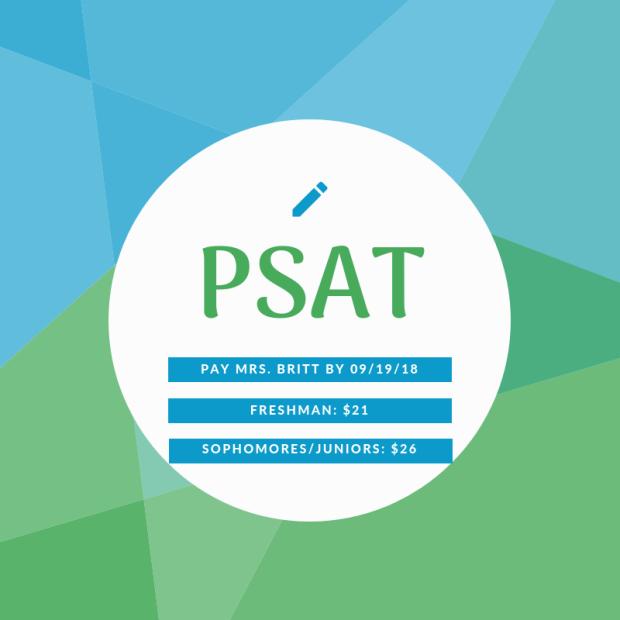 PSAT Deadline Graphic